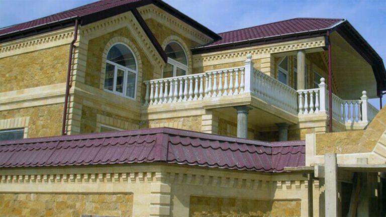 дом, облицованный доломитом