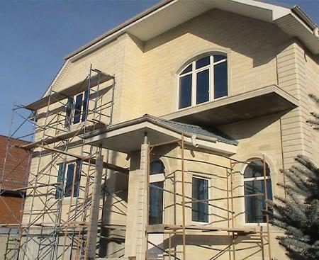 Монтаж и облицовка фасадов из натурального камня